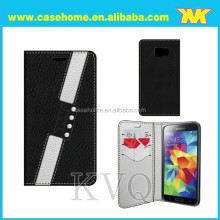 patchwork leather case for samsung, phone case for iphone with wallet stand flip, mix color case for LG