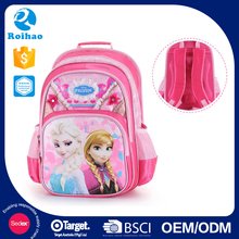 Roihao lovely Elsa and Anna students school bag, frozen kids school bags for girls