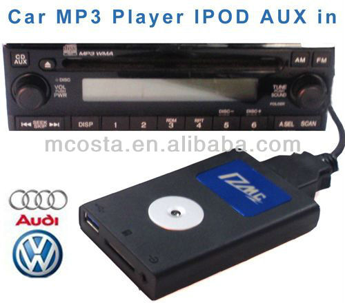 USB SD Bluetooth Car Audio MP3 Adapter for Audi/V.W/Toyota/Mazda/Nissan/Honda/BMW
