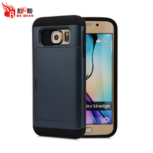 Hot Selling Wallet Design Protective Credit Card Holder Case Screen Protector For SamsungS6 Edge