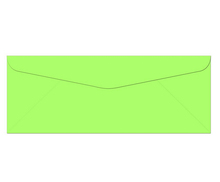 "100 Key Lime #10 Envelopes - 9.5"" x 4.125"" - Standard Flap, 70lb"