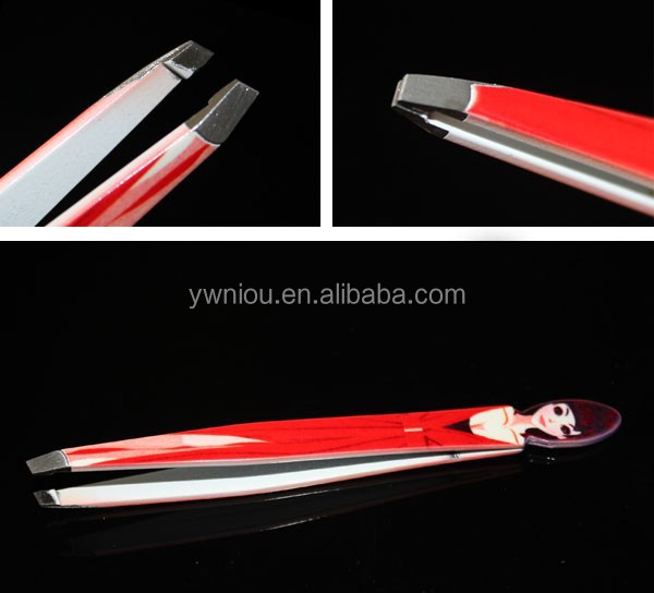 girl shaped Perfect Slant Tip Tweezers For Eyebrow Shaping And Fine Hairs
