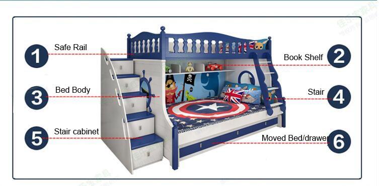 children wooden bunk bed