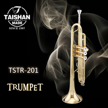 TAISHAN gold lacquer trumpet of 7C mouthpiece and brass bell