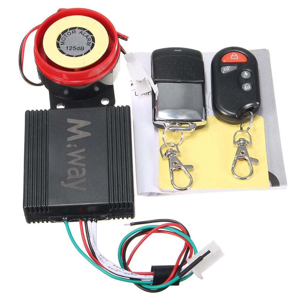Motorcycle Motorbike Bike Scooter Anti-theft Security Alarm 125db 2 Remote DC 12V