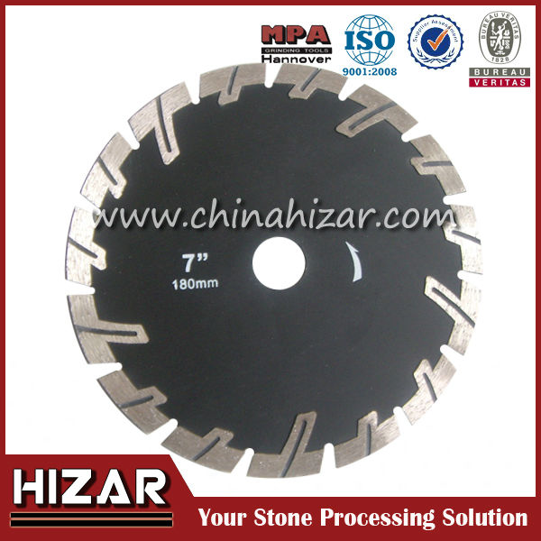 cold pressed curved tile diamond saw blade/razor blade barbed