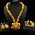 gold plated jewelry wholesales artificial bridal jewellery set Semi-precious stones jewelry sets