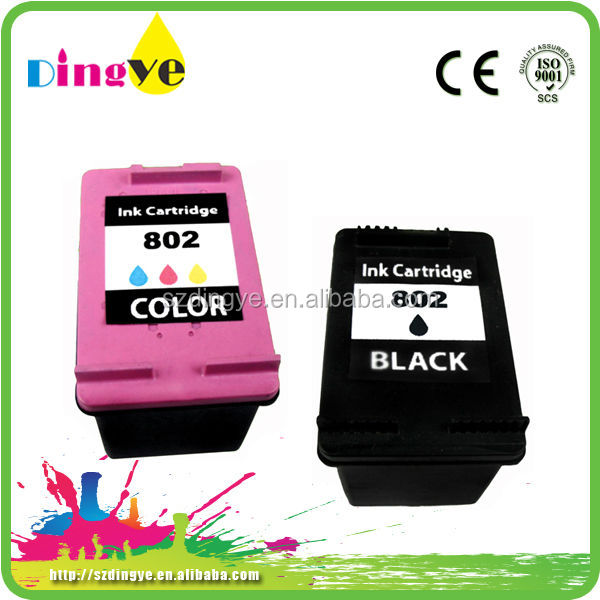 chip reset to full level ink cartridge for compatible ink cartridge for 802xl for hp printer