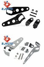 Black & White Universal Practical and Durable Motorcycle Street fighter Dirt Bike Fairing Headlight Fork Brackets Hot Sale