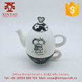 chinese hot selling ceramic tea sets/decal porcelain tea cup tea pot sets