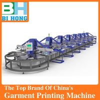 6 colors 6 stations manual screen printing machine with flash dryer