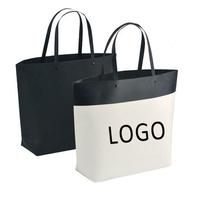 High Quality Fancy Customized LOGO White Black Printed Luxury Gift Paper Shopping Bag