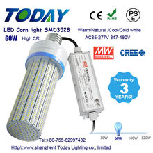 Led corn bulb 60w parking lot light 60 watt e39 led corn street light with 5 year warranty