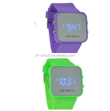 Silicone rubber chain wristwatch/lady kids watch with high ISO and Sedex