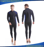 New design Mens 2 pieces neoprene long sleeve surfing wetsuit