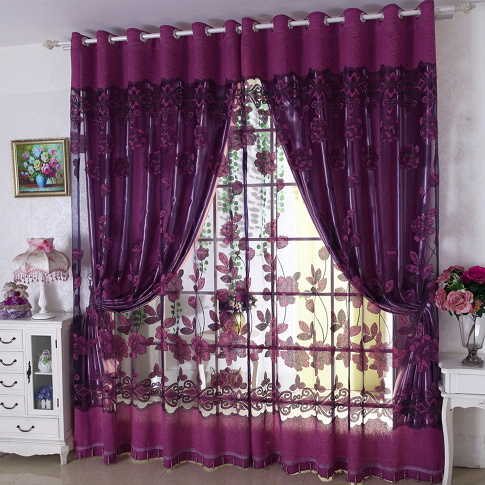 2017 Wholesale New Design Polyester Window Curtain Patterns