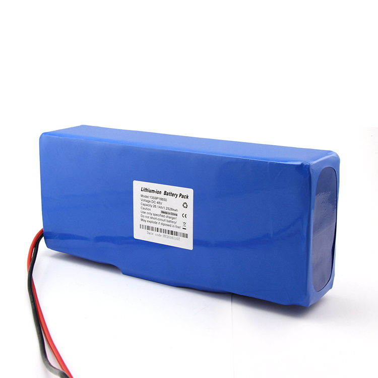Rechargeable 13S6P lithium 48v 15ah lifepo4 battery for electric bike