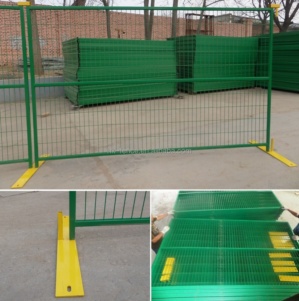 Hot sale powder coated temporary fence panel,Canada PVC modular temporary construction fence,no dig Canada temp portable fence