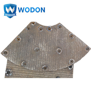 chromium carbide bimetal steel plate for coal chute liner