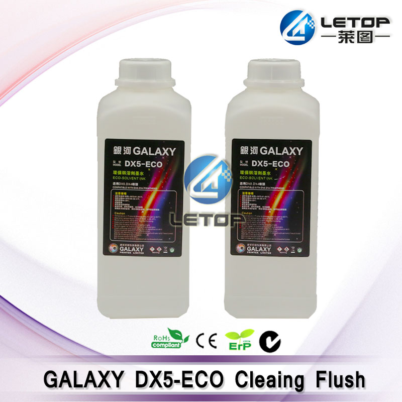 Hot sales! For DX5/DX4 Printhead GALAXY ECO Solvent Cleaning Flush (1L)