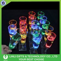 Logo Promotional Party Led Glow Champagne Glass