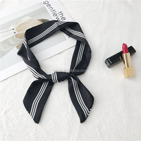 Cheap New Design Fashion Neckwear Ornamentation Black Neckerchief