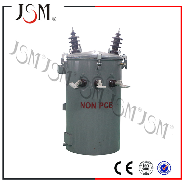 Poled mounted single phase distribution transformer 11kv 16KVA ONAN DP