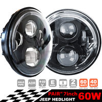 90W 7 inch Harley Motorcycle Head Light For Harley Off road 4*4