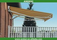 Plastic door auto canopy retractable awning