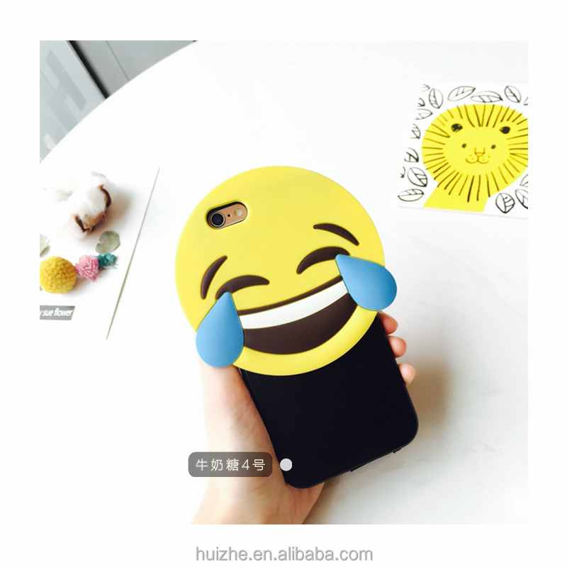 Best price hot handmade emoji customized phone shell plush animals doll protective cover