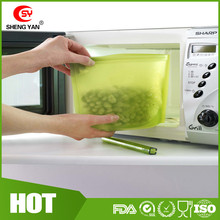 Reusable Microwaver Safe Dishwasher Safe Fresh Bag Silicone Food Storage Fresh Bag for Fish Meat Vegetable