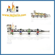 2016 JL-354 Yiwu Jiju Zinc Make Metal Crystal Smoking Pipes