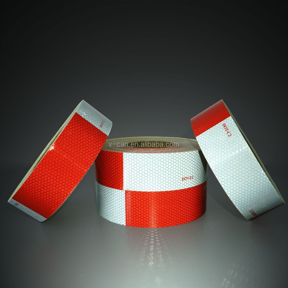 Red And White Reflex Reflectors Reflective Tape FMVSS 108 HI-INT-180012