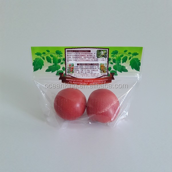 fresh vegetables packaging plastic clear perforation bag for tomato
