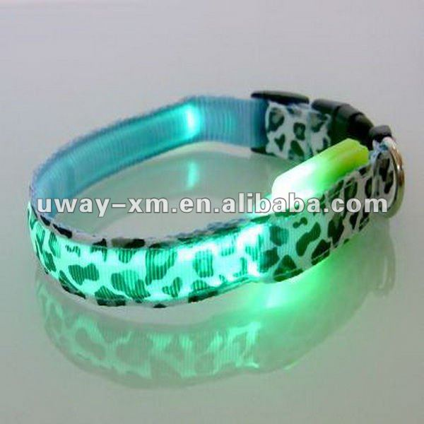 2012 newest green pet LED collar for dogs, 3 size for choice