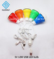 5V 12W USB LED bulb with different color