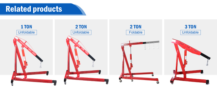 Workshop 2 Ton loading lifting hydraulic pump terrain crane