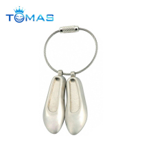 Custom dance metal mini shoe keychain