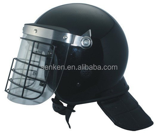 Anti riot helmet PC shield with metal visor