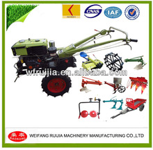 Professional Manufacturer Mini Walking Farm Tractors with lawn mower ect attachment