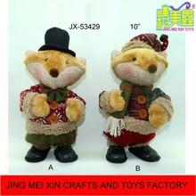 10'' Music swing electric Fox standing christmas decoration