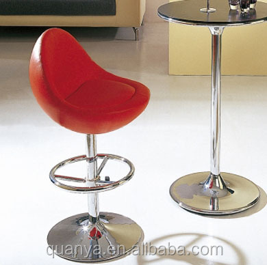 Low back Modeled foam pu leather bar chair