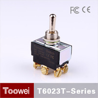 DPDT T600 Series 10A/15A 12mm Waterproof different types of toggle switches