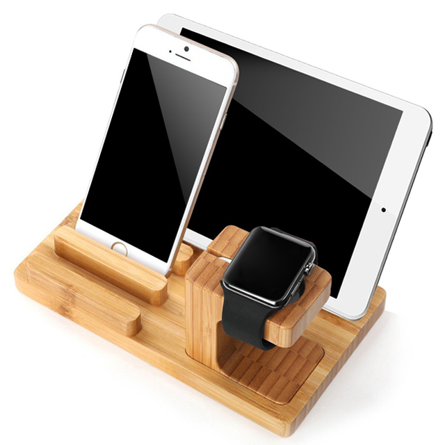 Wholesale OEM Red Rose Wooden Charging Stand for Apple Watch