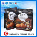 500g nuts packaging design stand up flat bottom ziplock coffee bean pouch
