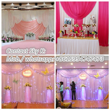 wedding crystal mandap decoration pipe and drape material