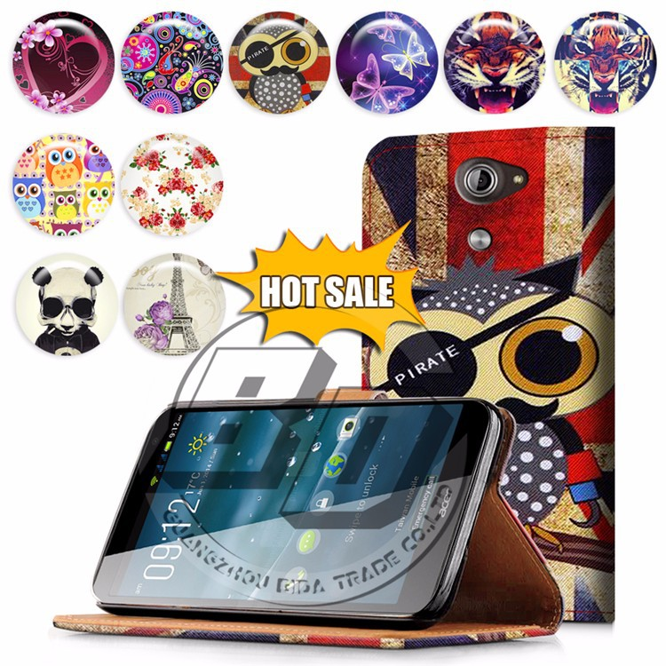 For Acer Liquid X1 case, mobile phone book style wallet printed PU leather flip cover case for Acer Liquid X1