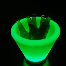 LED Light Up Plastic Ice Bucket illuminated bar table for beer bucket
