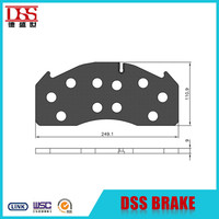 CV Truck Brake Pad Backing Plate for Volvo