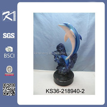 alibaba china indoor polyresin decorative dolphin for home decoratin
